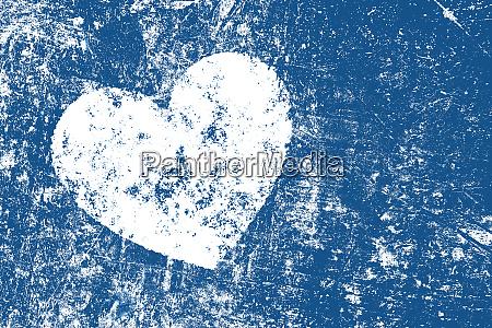 grunge white heart on distressed dark