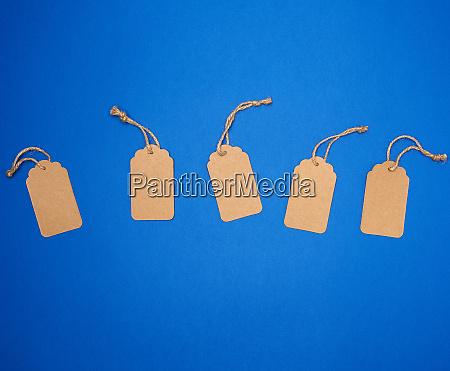 set of empty paper brown rectangular