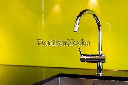 modern stainless steel faucet and sink