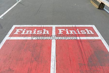 double finish line