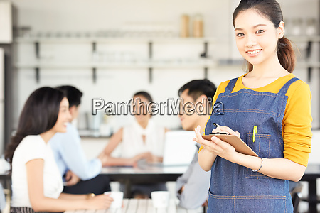 female cafe clerk