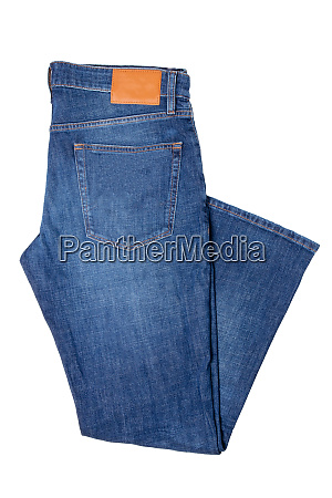 men jeans isolated folded trendy stylish