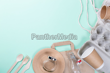 sustainable eco friendly concept kitchenware on