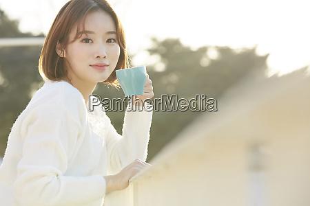 female lifestyle tea time