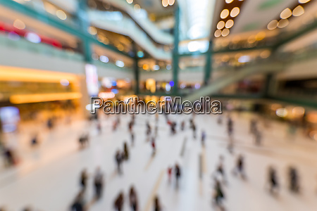 blur view of shopping centre