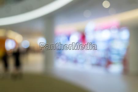 blur of shopping mall center