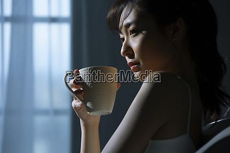 female lifestyle blue tone