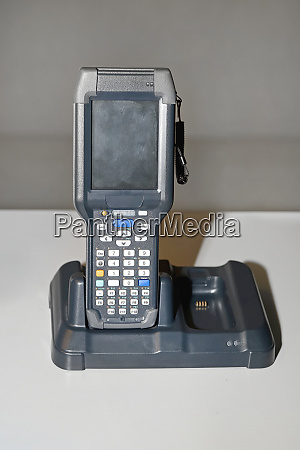 barcode scanner at charger