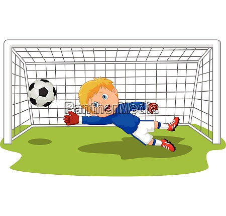 soccer football goalie keeper saving a
