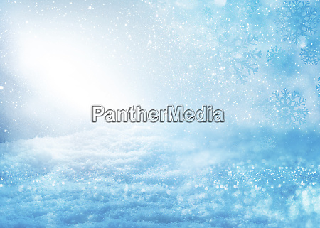blurred blue snowy landscape