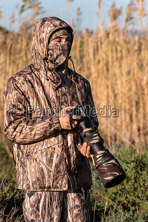 nature photographer in action
