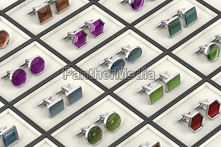 different designs of cufflinks