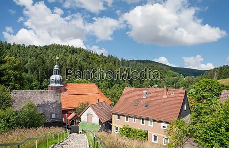 village of altenau in harz mountain