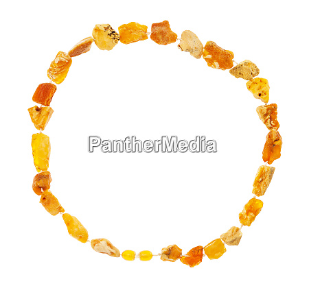 necklace from natural raw yellow amber