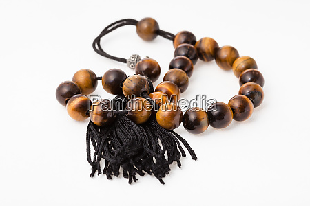 tangled worry beads from tigers eye