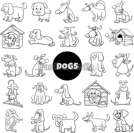 dog and puppies characters large collection