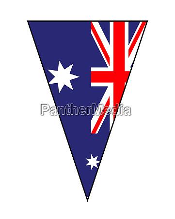 australian flag as bunting triangle