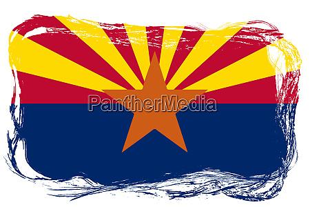the state of arizona flag grunge