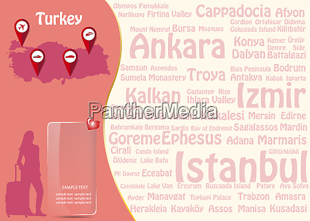 travel to turkey template vector with