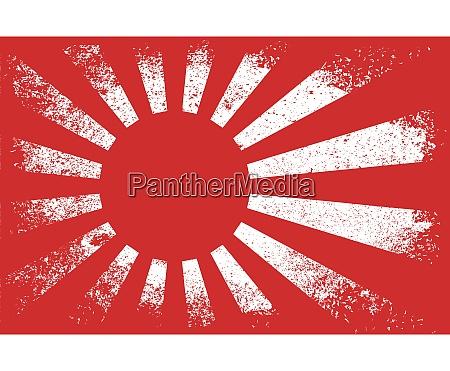japanese heavy grunge flag