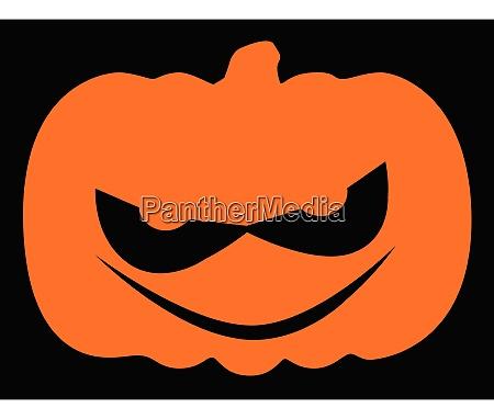 evil halloween pumpkin silhouette