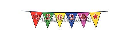 2020 celebration flag bunting