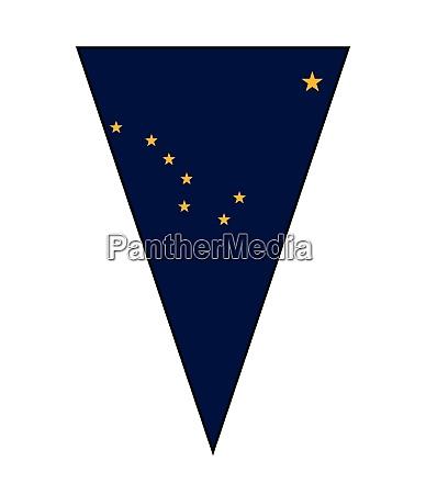 alaska state flag as bunting triangle