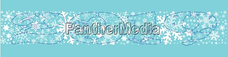 snowflake winter banner 2019