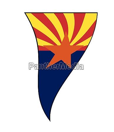 arizona state flag as waving bunting