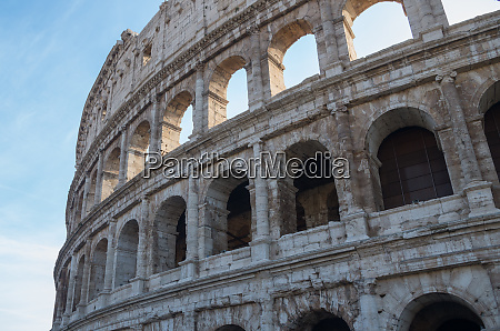 coliseum famous place at italy in