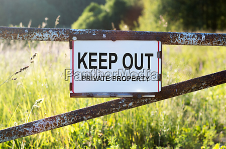 sign, private, property, and, keep, out - 27666001