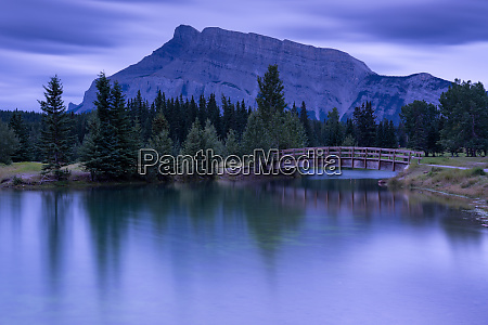 cascade ponds with mount rundle banff