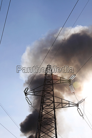 transmission tower fire