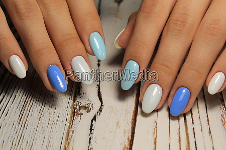 the refined beautiful female fingers with