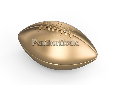 gold american football ball on a