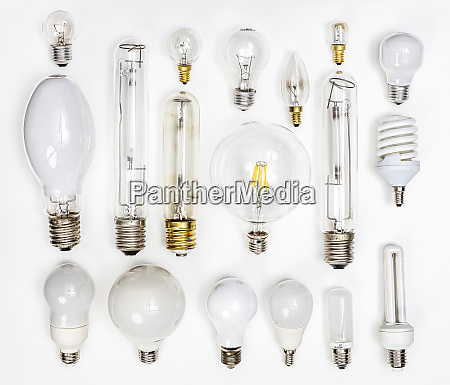 collection of different tungsten led bulbs