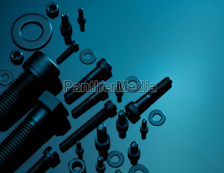 metal bolts nuts and washers fasteners
