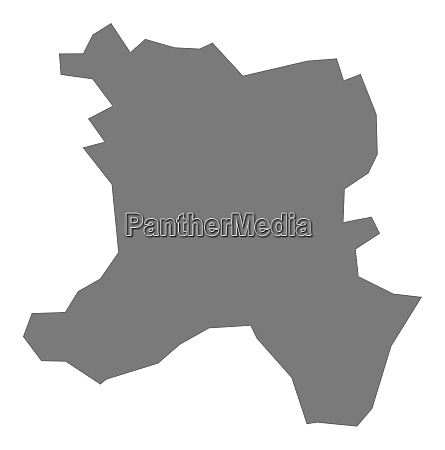 ferizaj kosovo district map grey illustration