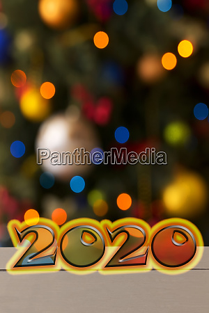 new year 2020 word on a