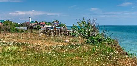 deserted beach in sanzheyka ukraine