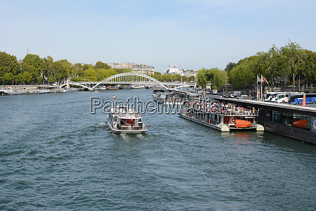 tourist river cruise ferry full with