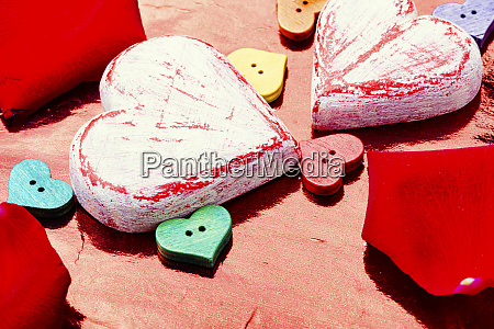 symbolic hearts for valentine day