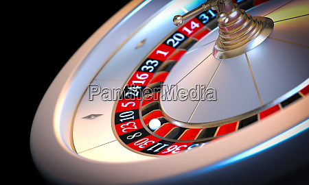 metallic roulette 3d render background