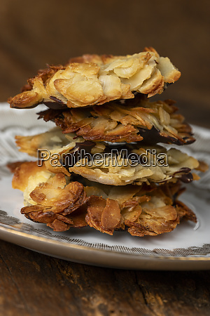 stack of florentiner cookies on a