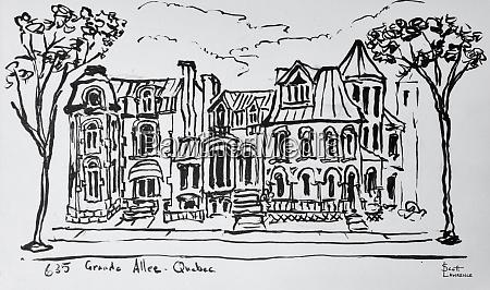 the grande allee quebec city quebec