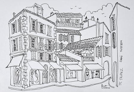 shopping street saint tropez french riviera