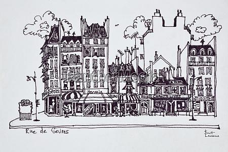 haussmann architecture along rue de sevres