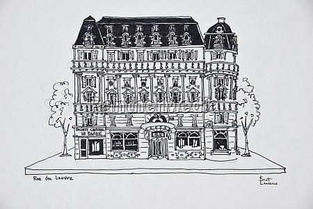 typical haussmann architecture on rue du