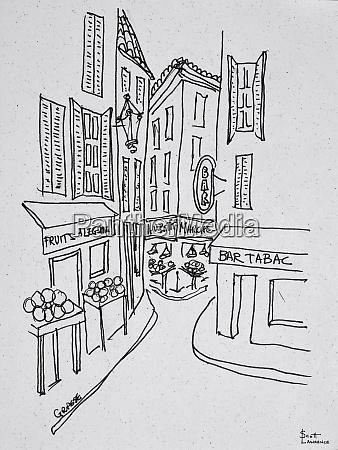 narrow streets of old nice nice