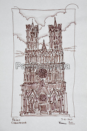 reims cathedral champagne region france